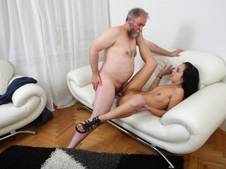 Tracy can't believe her luck when the old guy decides he wants to fuck her